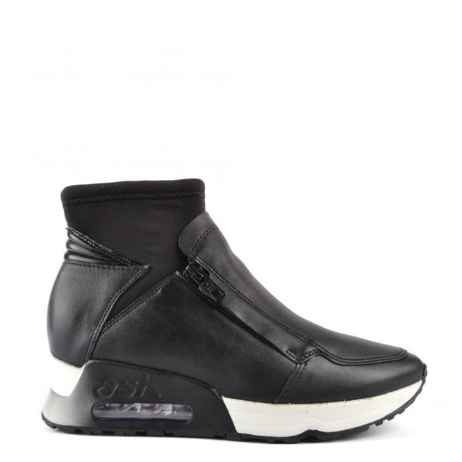 Ash Footwear Lux Black Leather Trainer
