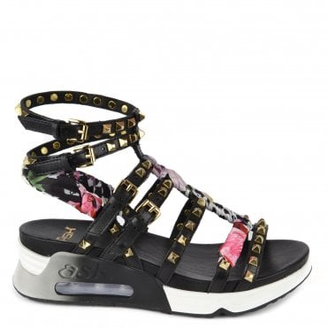 dc69a8a39 Lynx Black Leather Studded Trainer Sandal. Ash Footwear ...