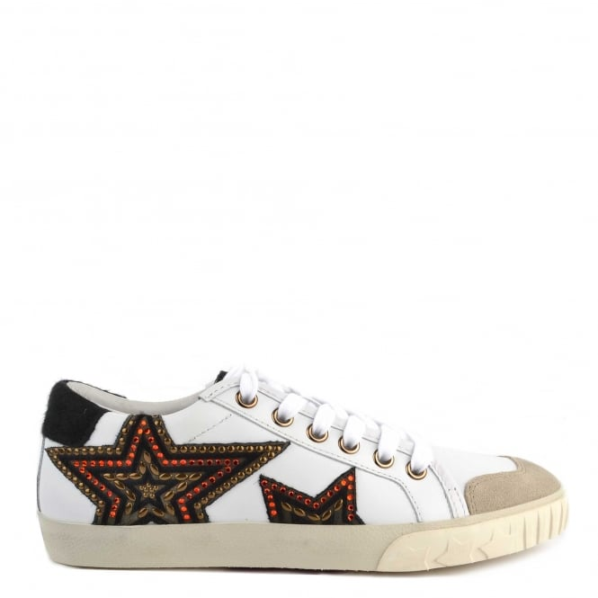Ash Footwear Magic White and Black Pony Hair Star Trainer