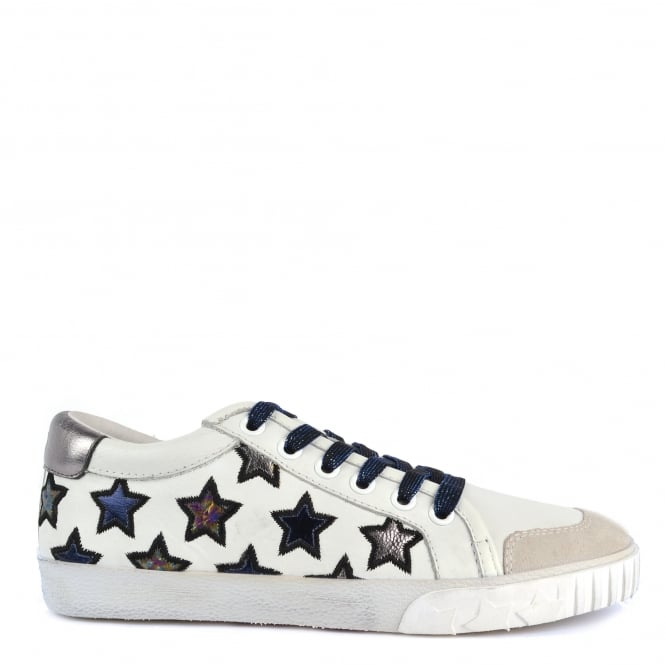 Ash Footwear Majestic Off White and Chrome Star Trainer
