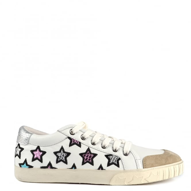 Ash Footwear Majestic White and Silver Star Motif Trainer