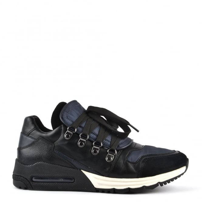 Ash Footwear Mens' Malcom Black and Midnight Trainer