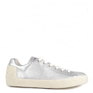 Mens' Nikko Silver Leather Trainer