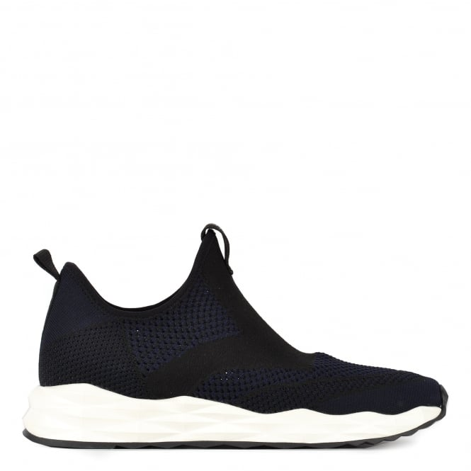 Ash Footwear Mens' Single Black and Midnight Knit Trainer