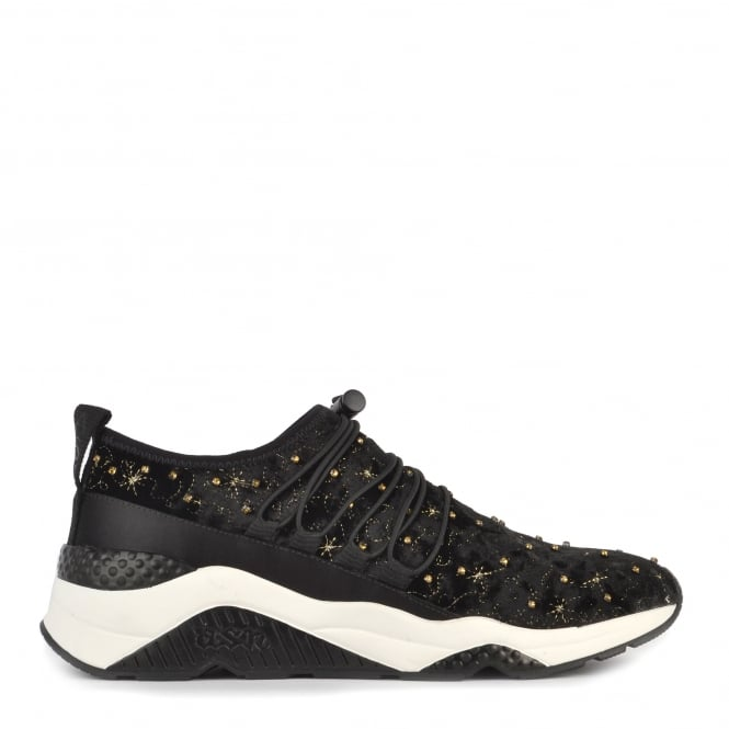 Ash Footwear Misstic Black Velvet Trainer