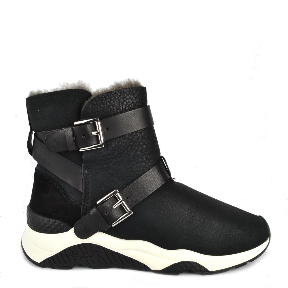 8540ca220c7e Mochi Black Suede Shearling Boot · Ash ...
