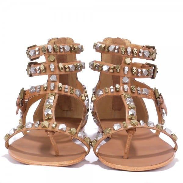 Nude Leather Footwear Brand From Studded Mykonos Women Ash Sandals dEtqE