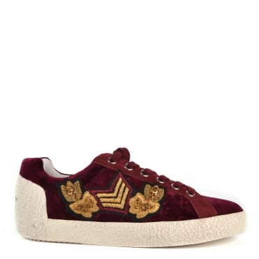 Nak Arms Bordeaux and Printed Trainer