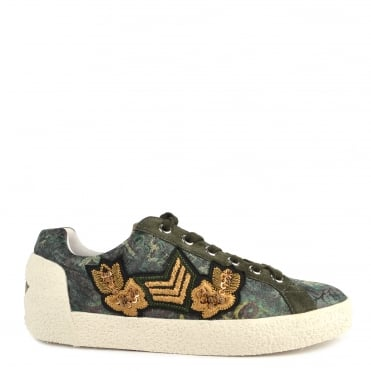 Nak Arms Military Green and Printed Trainer