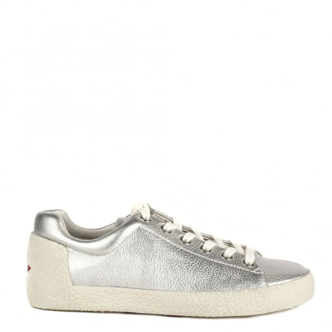 Ash Footwear Nicky Silver Textured Leather Trainer