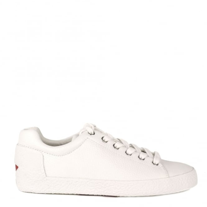 Ash Footwear Nicky White Textured Leather Trainer