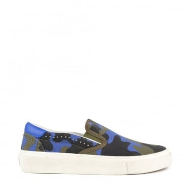 Nikita Saphir and Army Canvas Slip On Trainer