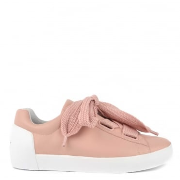 Nina Nude Leather Chunky Lace Up Trainer