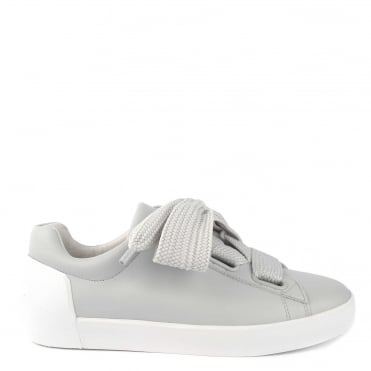 Nina Pearl Leather Chunky Lace Up Trainer