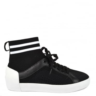 Ninja Black & White Knit Trainer