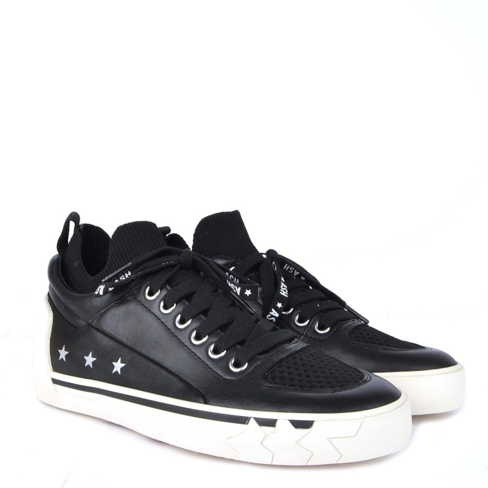 Ash Nippy Leather Trainers in Black