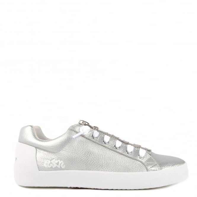 Ash Footwear Nirvana Silver Leather With Zip Trainer