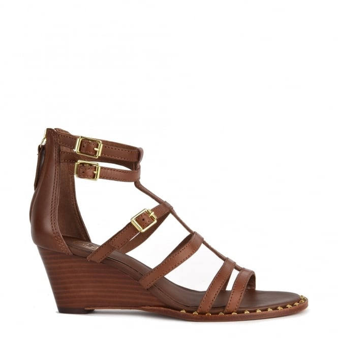 Ash Footwear Nuba Bis Cacao 'Brown' Leather Wedge Sandal