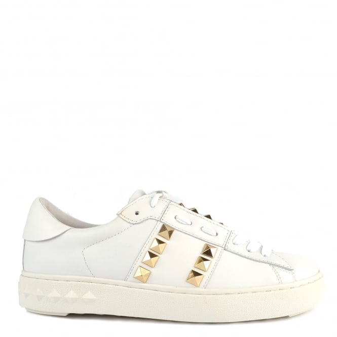 Ash Footwear Party White Leather Gold Studded Trainer