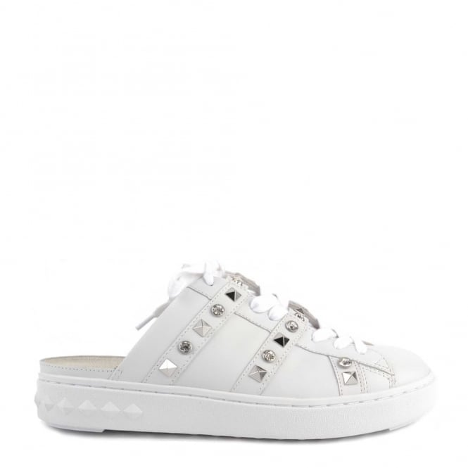 Ash Footwear Party White Leather Sandal Trainer