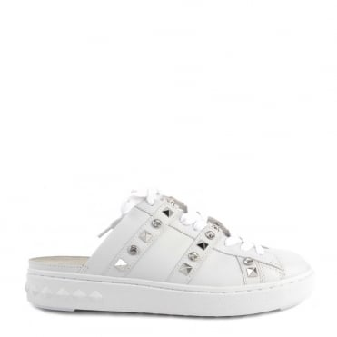 Party White Leather Sandal Trainer