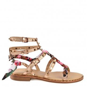 8de7539cf5bd Pax Rose Gold Leather Studded Sandal. Ash Footwear ...