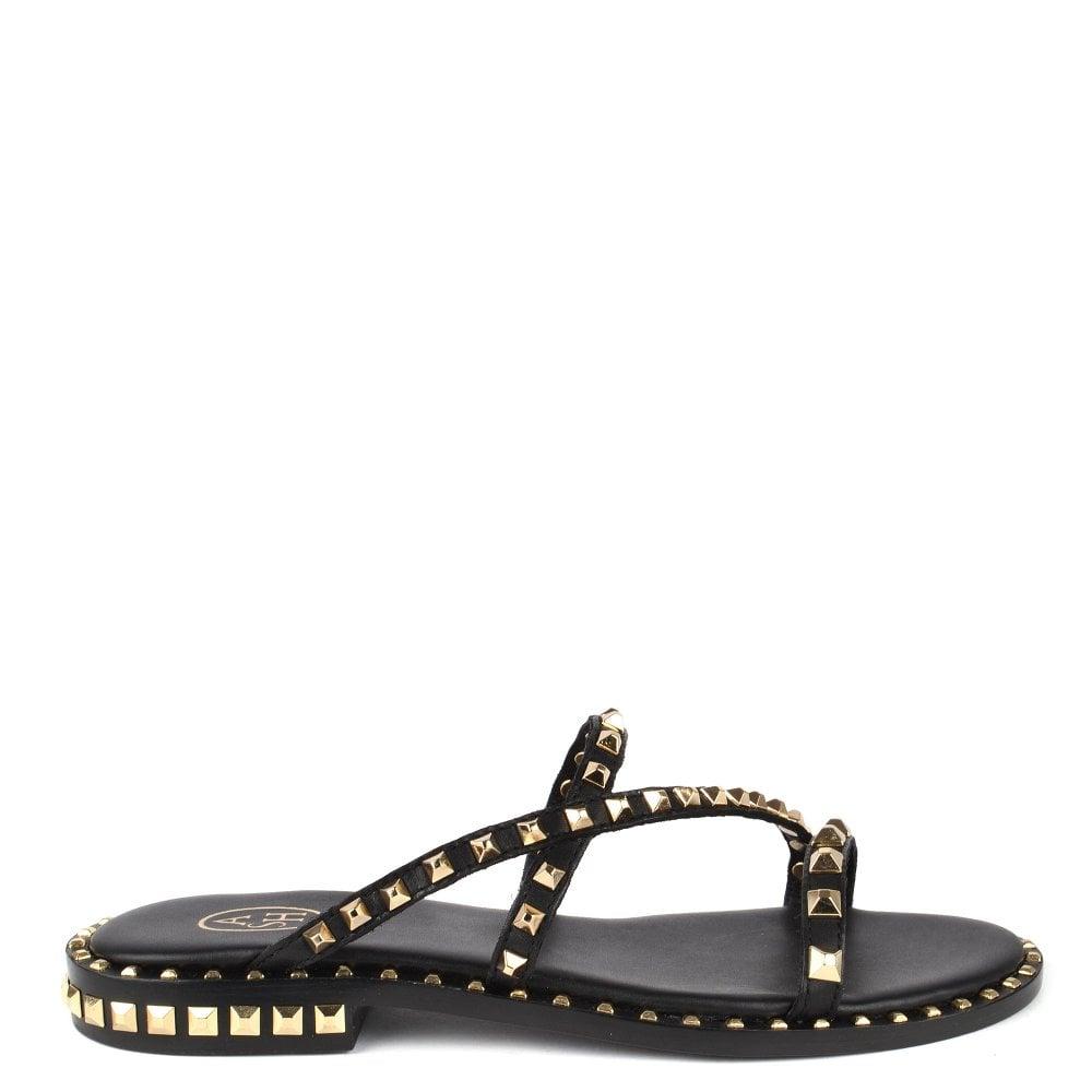 e1bd9f0ff742 Ash Footwear Peace Bis Black Studded Leather Sandal