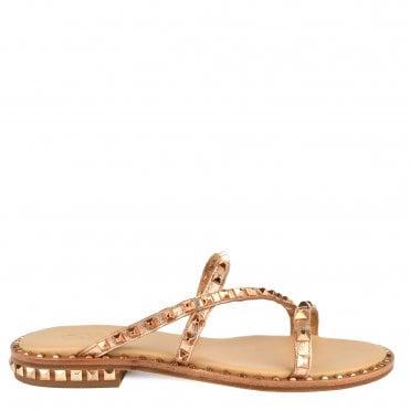 4f111cbf435c Ash Peace Bis Rose Gold Studded Leather Sandal