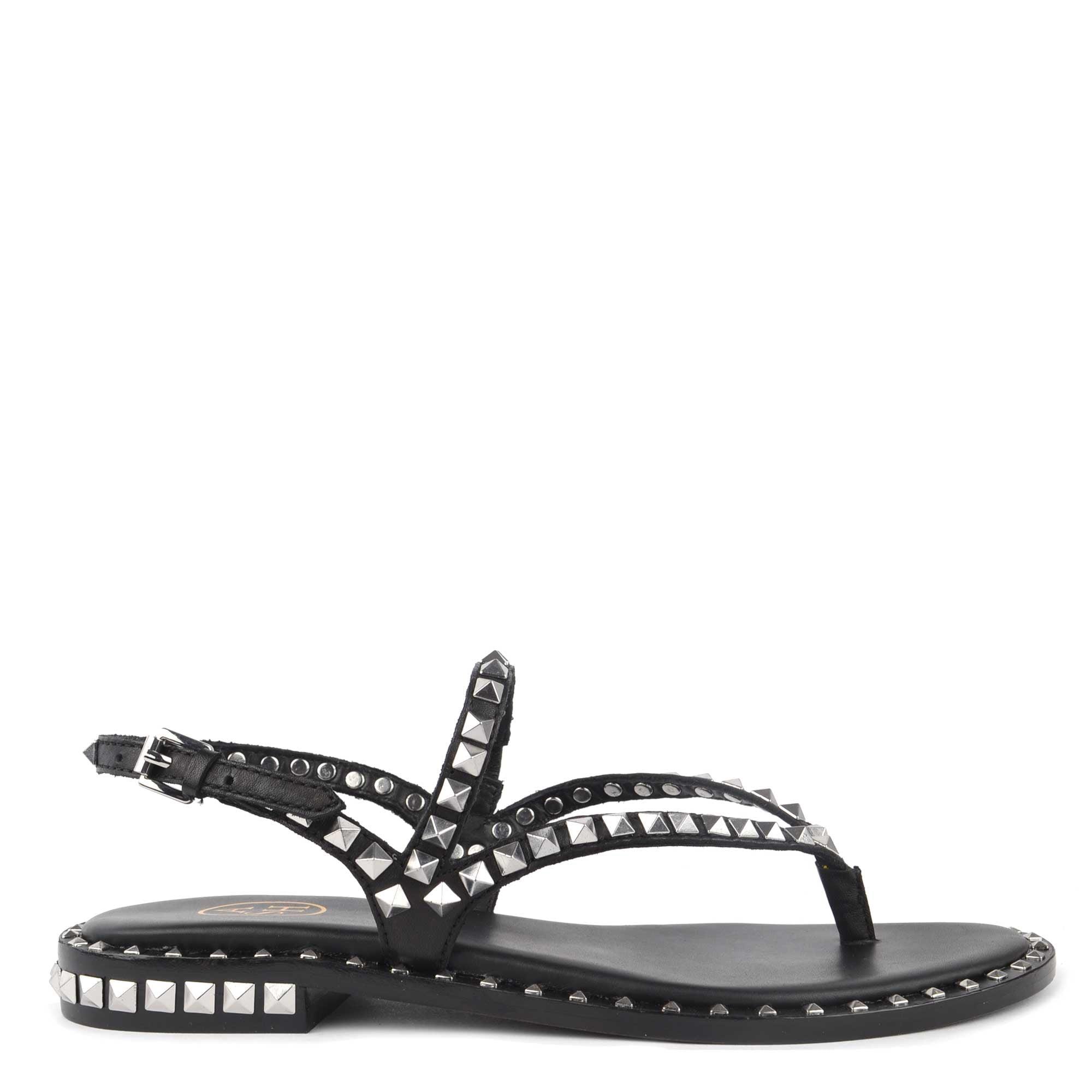 new lifestyle los angeles outlet Ash Peps Black Studded Flat Sandal