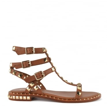 Poison Brown Leather Studded Sandal