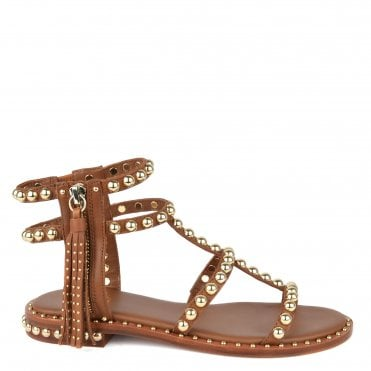 cfddd2f8f6fe Power Brown Studded Leather Sandal. Ash Footwear ...