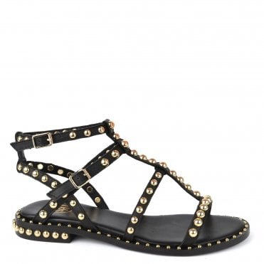 863a9e656 Precious Black Leather Studded Sandal. Ash Footwear ...