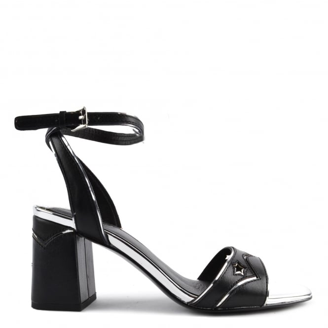 Ash Footwear Quantic Black Leather Heeled Sandal