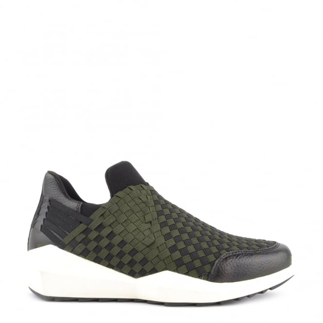 Ash Footwear Quartz Army and Black Trainer