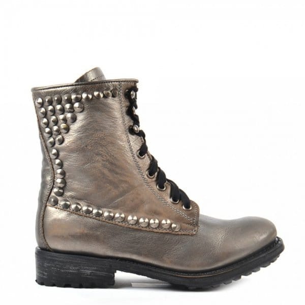 Leather Ralph Studded Piombo Boot Ash HP48ntXH