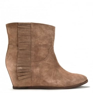 Scandal Vision Fringe Wedge Ankle Boot