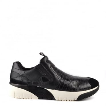 Set Black Embossed Trainer