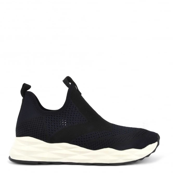 Ash Footwear Shake Knit Black and Midnight Trainer