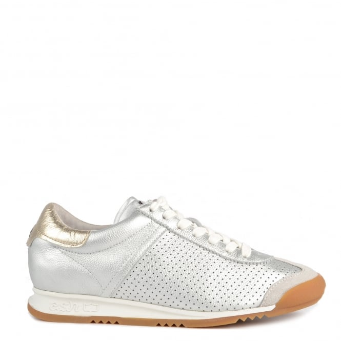 Ash Footwear Soul Silver Leather Trainer