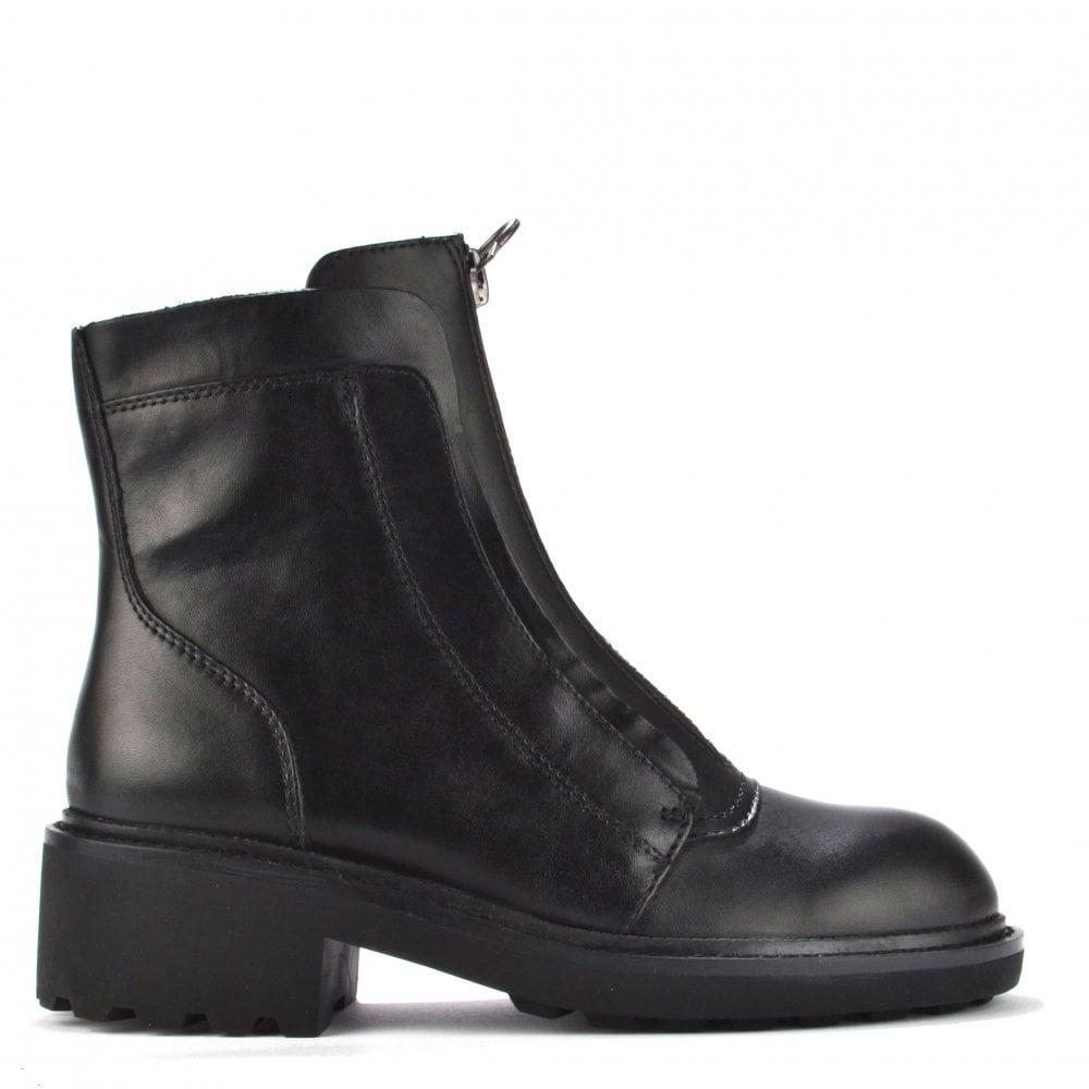 75d63f8918a07 Ash Footwear Space Black Leather Ankle Boot - Women from Brand ...