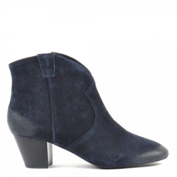 8d02438aa48 Ash Footwear Spiral Midnight Suede Western Style Ankle Boot - Women ...