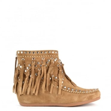 Spirit Wilde Suede Wedge Ankle Boot