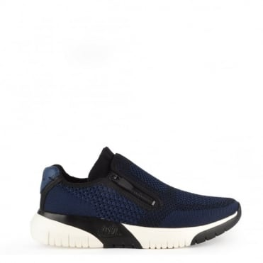 Studio Knit Ocean Blue and Black Trainer