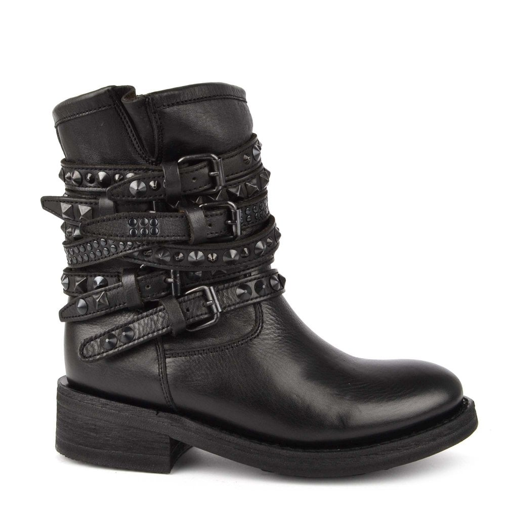 831e100e8e5f Ash Footwear Tempt Black Studded Boot