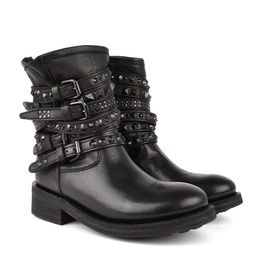 6356f9f4cff7 Ash Tempt Black Studded Boot