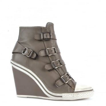 Thelma Perkish Leather Wedge Trainer