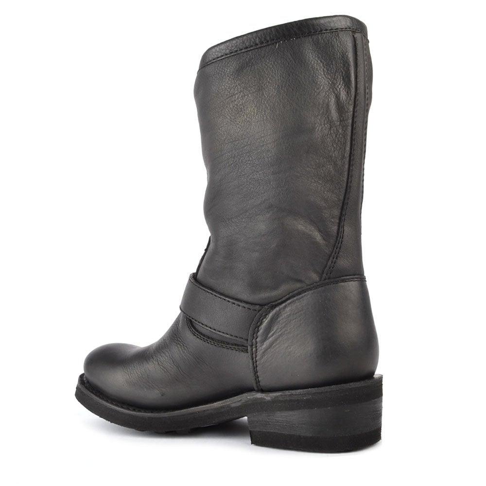 803e101481e5 Ash Toxic Black Leather Boot