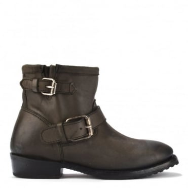 Vegas Bis Fango Leather Ankle Boot
