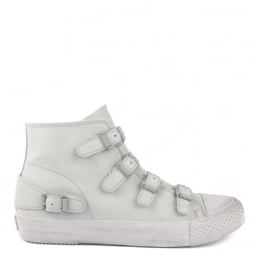 Venus Pearl Leather Buckle Trainer