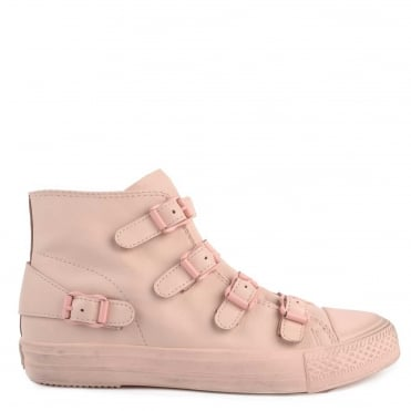 Venus Powder Leather Buckle Trainer